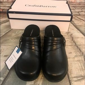 Croft & Borrow Black CBLANIBLACK Clogs